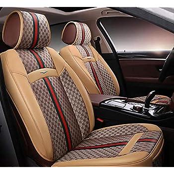 Amazon.com: ADHW - Funda de piel para asiento de coche ...