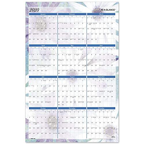 AT-A-GLANCE 2020 Erasable Wall Calendar, 24