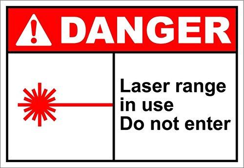 Personalized Metal Signs Laser Range In Use Do Not Enter Danger OSHA / ANSI Aluminum METAL Sign 8 X 12 - Tequila Copenhagen Bar
