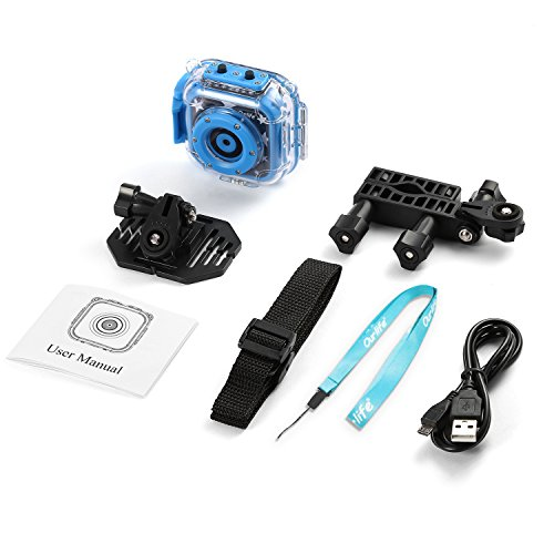 Ourlife kids Waterproof Camera with Video Recorder includes 8GB memory card (Blue) by Ourlife (Image #7)