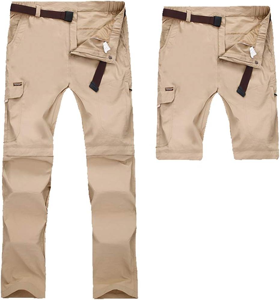 Insun Uomo Pantaloni Lunghi da Escursionismo e Campeggio Convertibili 2 in 1 Pantaloni da Trekking Asciugatura Veloce da Esterno Traspirante