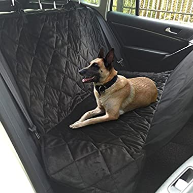 Dog Car Seat Covers, Topist Heavy Duty Dog Car Hammock with Pet Car Seat Belt Waterproof and Non-Slip Seat Covers for Dogs, Cats, Pets Universal Fit Cars, Trucks, SUVs and Vehicles