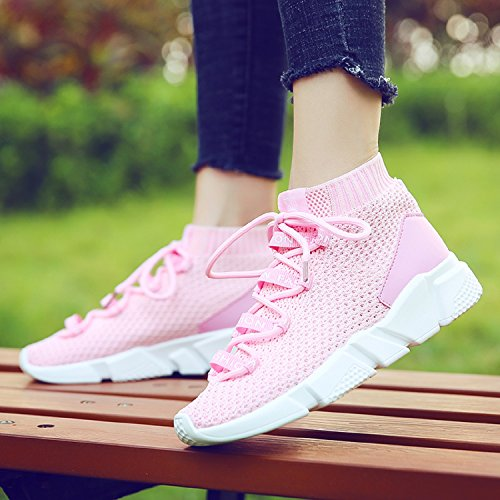 Sneakers Mode Sport De Baskets Chaussure Femme H Fitness mastery Gym Running Knit Hautes Compens Marche Ax4OZnanwq