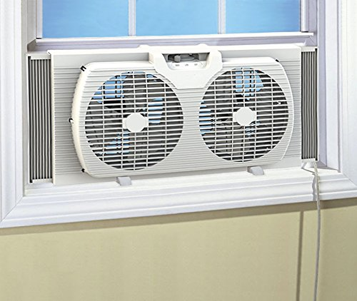 dual-blade-9-inch-twin-window-fan-with-cover-portable-reversible-airflow-white