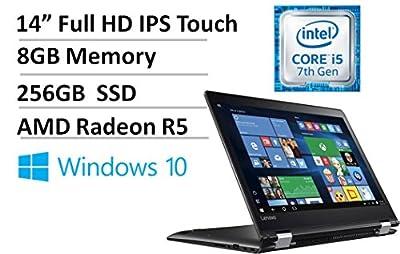 """Lenovo Flex 4 14"""" Full HD IPS Touchscreen Laptop/Tablet - 7th Gen Intel i5-7200U 2.5GHz, 8GB DDR4, 256GB SSD, 2GB AMD Radeon R5 M430, Backlit Keyboard, Harman Audio, 802.11ac, Bluetooth, HDMI, Win 10"""