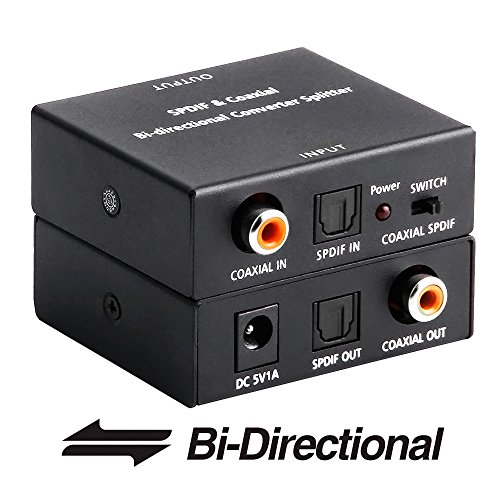 ROOFULL Optical Toslink To Coaxial And Digital Coax SPDIF Audio Converter Bi Directional