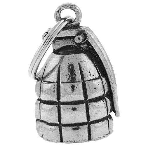 Guardian® Grenade Motorcycle Biker Luck Gremlin Large Riding Bell or Key Ring Large Grenade