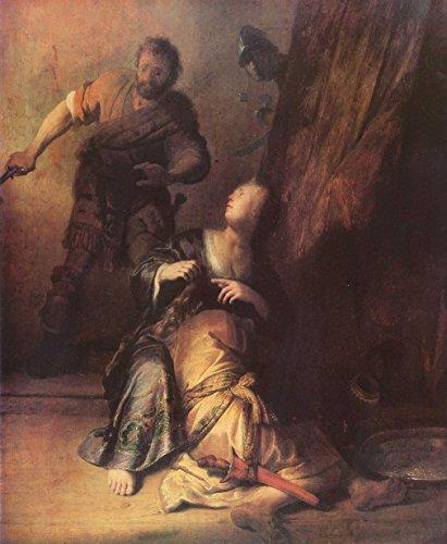 "Samson Betrayed by Delilah by Rembrandt Van Rijn - 20"" x 25"" Premium Canvas Print"
