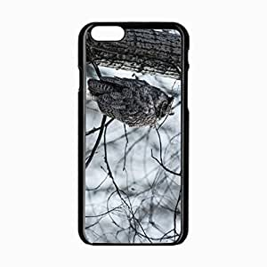 iPhone 6 Black Hardshell Case 4.7inch owl nature Desin Images Protector Back Cover by mcsharks