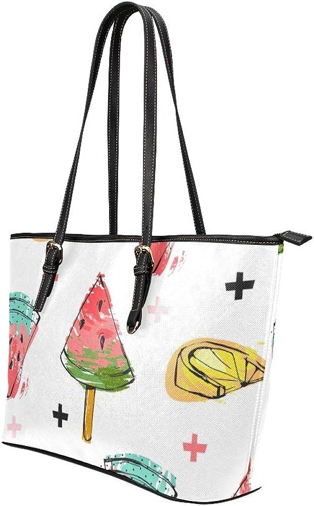 Bag Travel Colorful Creative Geometric Art Frame Leather Hand Totes Bag Causal Handbags Zipped Shoulder Organizer For Lady Girls Womens Ladies Tote Handbags