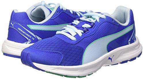 Puma Descendant v3 Unisex-Kinder Sneakers Dazzling Blue/Mint Leaf/White