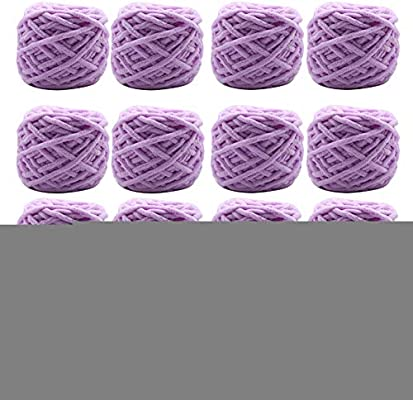 Hilado Suave De Terciopelo Manta Gruesa Para Tejer Crochet Craft 16 Pack,Lightpurple: Amazon.es: Hogar