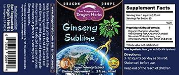 Dragon Herbs – Ginseng Sublime – 2 fl oz 60 ml — Premium Supreme Ginseng