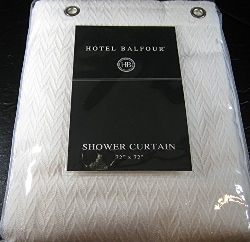 Hotel Balfour Premium Quality Fabric Shower Curtain White 100 Cotton 72 X Amazoncouk Kitchen Home