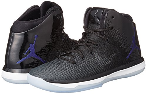 Nike Mens Air Jordan XXXI Basketball Shoes Black/Concord/Anthracite/White 845037-002 Size 9.5