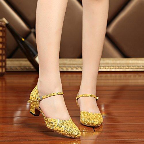 Minitoo - salón mujer Yellow/Gold-5cm Heel