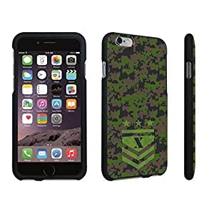 DuroCase ? Apple iPhone 6 Plus - 5.5 inch Hard Case Black - (Army Camo Monogram X) by icecream design
