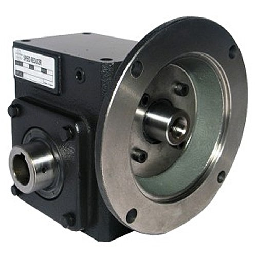 Worldwide Electric HdRF262-5/1-H-182/4TC Worm Gear Reducers Flange Input, Hollow Bore Output, 5:1 Ratio, 350 Output RPM, 182/4TC Frame, 2.62