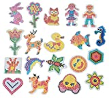WellieSTR 19 Stlye 5mm Hama Beads Template With Colore Paper Plastic Stencil Jigsaw Perler Beads Diy Transparent Shape Puzzle Pegboard