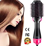 One Step Hair Dryer & Volumizer, Hot Air Brush All In One Hair Brush and Dryer Professional Negative Ion Hair Hot Comb, Black