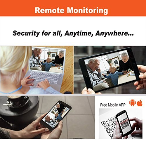 KAREye 4CH 1080N AHD DVR Security Camera System Built-in IR