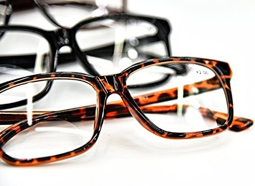 5a655d3bbbc5 Bifocal Reading Glasses Fashion Geek Nerd Unisex Stylish Big Frame 3 Colours  Tortoise-Black-Brown +1.0+1.5+2.0+2.5 DX2 (Black