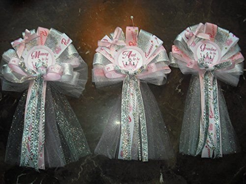 Baby Shower Corsage Set for mom Dad and 2 Grandma