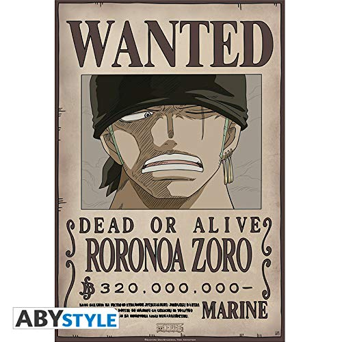 (AbyStyle Abysse Corp_ABYDCO428 One Piece-Poster Wanted Zoro New (52X35))