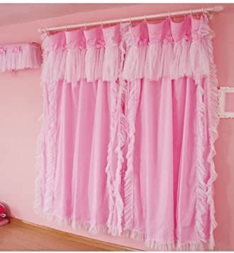 Living Room Curtains amazon living room curtains : Amazon.com: Diaidi Princess Living Room Curtains, Romantic Ruffle ...