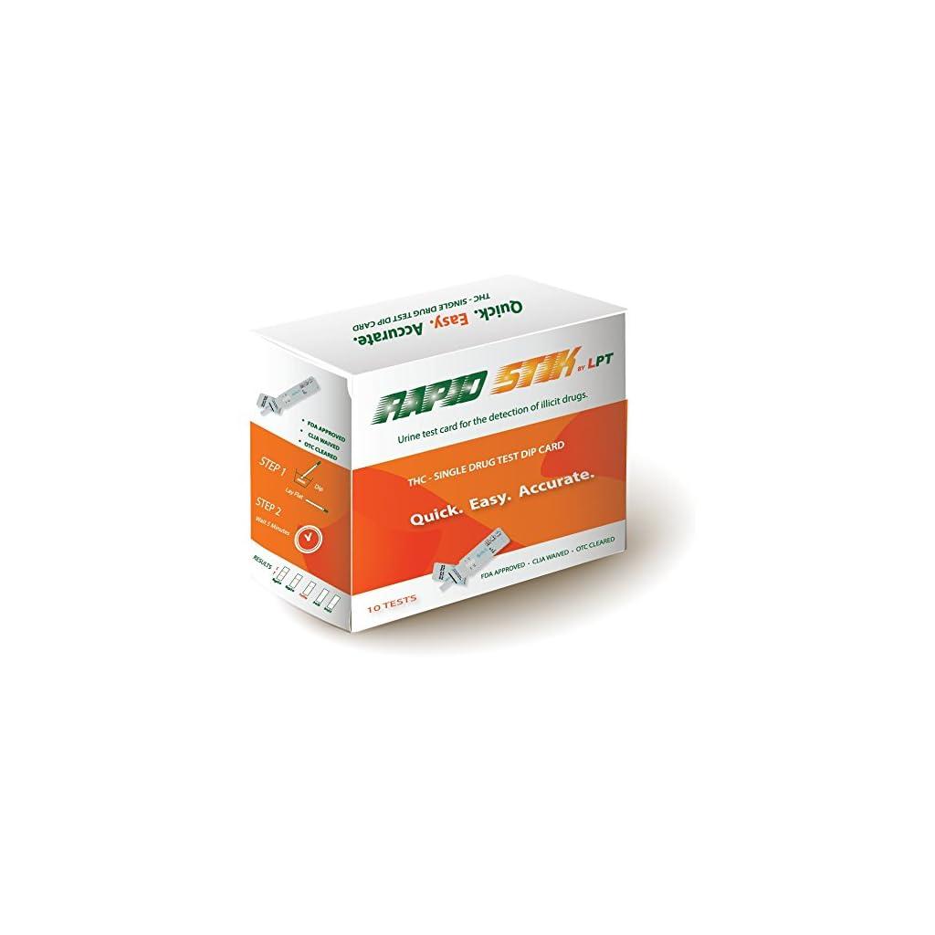 Science Purchase INSTANT Single Panel Drug Test Kit - Test For THC  (marijuana) - 10 pk
