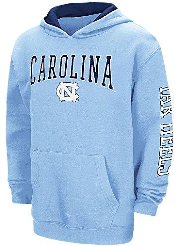 UNC Tarheels Youth Carolina Blue Screened Zone 2 Pullover Hoodie Sweatshirt (M=10-12)