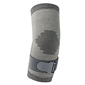 Rehband Active Line Adjustable Elbow Sleeve – S/M - Lightweight & Breathable Sports Elbow Brace for Tennis Elbow, Elbow Tendinitis and Golf Elbow - Best Elbow Strap for Elbow Pain Relief + Treatment