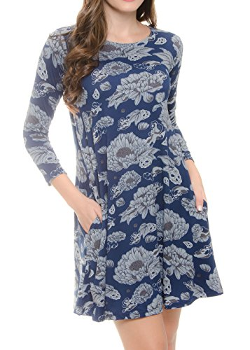 MODADEL 44 Colors Women Dresses On Sale Casual Plain Long Sl