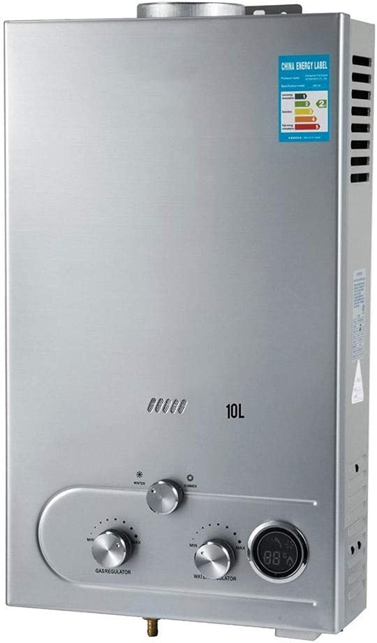 KYLL 10L Gas propano Agua Caliente del Calentador 2.7GPM Acero Inoxidable automático de Encendido licuado Calentador de Agua montado en la Pared de Petróleo Calentador de Agua