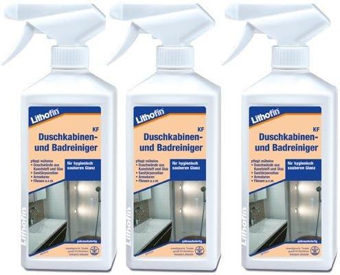 3 x Lithofin cabinas de ducha y baño – Limpiador 500 Ml – Extra y ...