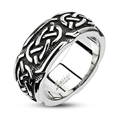 - Inspiration Dezigns Continuous Celtic Cast Band Stainless Steel Size 9 Ring