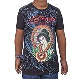 Ed Hardy Big Girls' Geisha T-Shirt - Black - Large