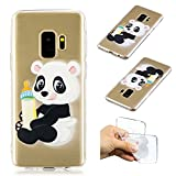 Galaxy S9 Plus Creative Case,Galaxy S9 Plus Transparent Soft Clear TPU Cover,Leecase Feeding Bottle Panda Cute Pattern Flexible Protective Case Cover for Samsung Galaxy S9 Plus