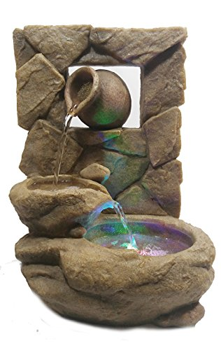 Major-Q 22138 Decoration Feng Shui Rock Like Waterfall Fountain with LED Light, 14