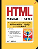 HTML Manual of Style, Larry Aronson, 0321712080