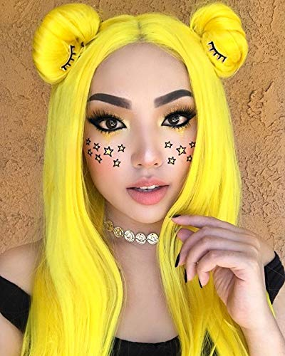 Sapphirewigs Yellow Natural Perruque Synthetic product image