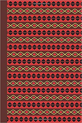 Amazon com: Journal: African Pattern (Red) 6x9 - LINED