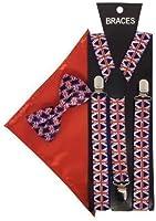 Sock Snob - Bretelles - À carreaux - Homme Rouge Red Blue Taille unique