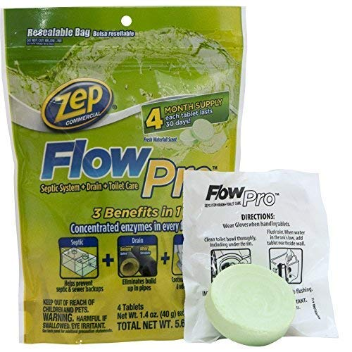 Zep Automatic Toilet Bowl Cleaner 5.6 Ounce ZFLOW4 (Case of 12) by Zep