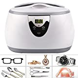 Ultrasonic Polishing Jewelry Cleaner Machine for Eyeglasses, Rings, Coins,Watches, Necklaces Professional Instruments US Stock