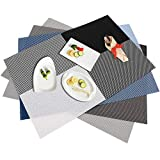 Placemats Heat-Resistant Dining Table Place Mats Anti-Skid Washable Set Of 4 Placemats,Placemats For Dining Table, Square Gerslin Insulation Pad, Heat Insulation And Easy To Clean PVC Table Mat