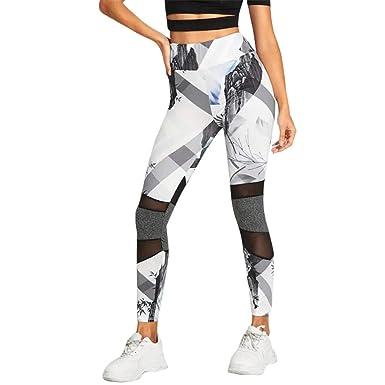 Amazon.com: HEJANG - Mallas deportivas de yoga para mujer ...