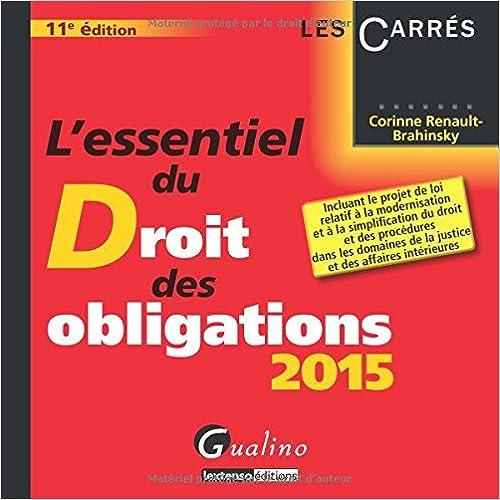 Lire en ligne L'essentiel du droit des obligations 2015 pdf, epub ebook