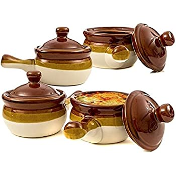 Amazon Com Gibson French Onion Soup Crock Bowls With