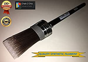 #COo35 - 1 3/8 inch - 35mm by 28mm - CLING ON ! - CHALK PAINT professional HEAVY DUTY super strong SHABBY CHIC DENSE OVAL SYNTHETIC BRUSH designed for waterbased and chalk paints